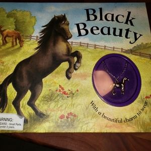 Children's book Black Beauty w/necklace